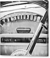 1956 Ford Thunderbird Steering Wheel -260bw Canvas Print