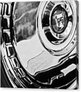 1956 Ford Thunderbird Wheel Emblem -232bw Canvas Print