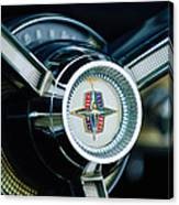 1956 Lincoln Continental Mark II Hess And Eisenhardt Convertible Steering Wheel Emblem Canvas Print