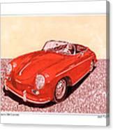 1956 Porsche 356 Cabriolet Canvas Print