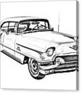 1956 Sedan Deville Cadillac Car Illustration Canvas Print