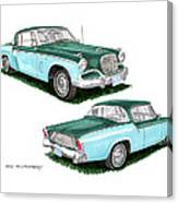 1956 Studebaker Coming And Going Canvas Print