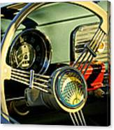 1956 Volkswagen Vw Bug Steering Wheel 2 Canvas Print