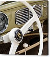 1956 Vw Convertible Steering Wheel Canvas Print