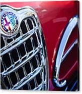 1957 Alfa-romeo 1900c Super Sprint Grille Emblem Canvas Print