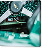 1957 Aston Martin Dbr2 Steering Wheel Emblem -2345c Canvas Print