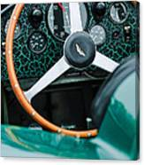 1957 Aston Martin Dbr2 Steering Wheel Canvas Print