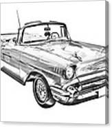 1957 Chevrolet Bel Air Convertible Illustration Canvas Print