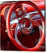 1957 Chevrolet Bel Air Steering Wheel Canvas Print