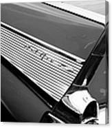 1957 Chevrolet Belair Convertible Taillight Emblem Canvas Print