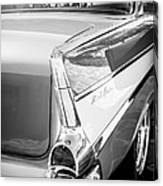 1957 Chevrolet Belair Coupe Tail Fin -019bw Canvas Print
