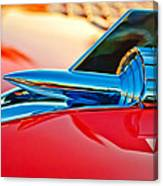 1957 Chevrolet Belair Hood Ornament Canvas Print