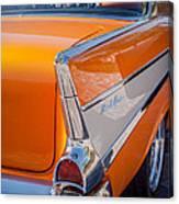 1957 Chevrolet Belair Taillight Emblem -019c Canvas Print