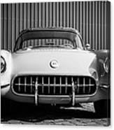 1957 Chevrolet Corvette -0010bw Canvas Print