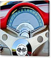 1957 Chevrolet Corvette Convertible Steering Wheel Canvas Print