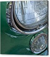 1957 Chevrolet Corvette Head Light Canvas Print