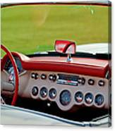 1957 Chevrolet Corvette Roadster Dashboard Canvas Print