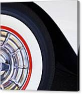 1957 Chevrolet Corvette Wheel Canvas Print