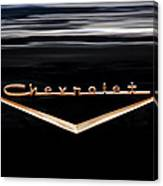 1957 Chevrolet Emblem Canvas Print