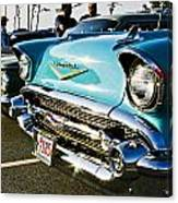 1957 Chevy Bel Air Blue Front End Canvas Print