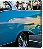 1957 Chevy Bel Air Blue Rear Quarter Canvas Print