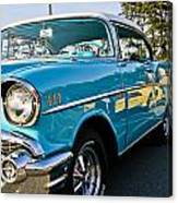 1957 Chevy Bel Air Blue Right Side Canvas Print