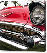 1957 Chevy Bel Air Front End Canvas Print