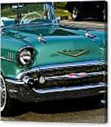 1957 Chevy Bel Air Green Front End Canvas Print