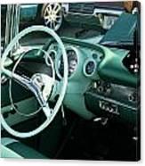 1957 Chevy Bel Air Green Interior Dash Canvas Print