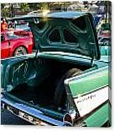 1957 Chevy Bel Air Green Rear Trunk Open Canvas Print