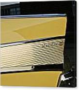 1957 Chevy Bel Air Yellow Rear Quarter Panel Canvas Print
