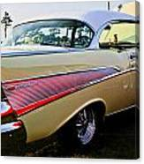1957 Chevy Bel Air Yellow Side View  Canvas Print