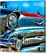 1957 Chevy Grille Canvas Print