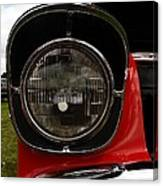 Old Car Headlight Canvas Print