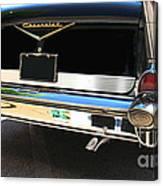 1957 Chevy Rear View Car Art Canvas Print