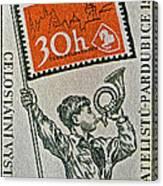 1957 Czechoslovakia Stamp Canvas Print