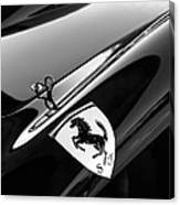 1957 Ferrari Tr 250 - 0714 Emblem -0379bw Canvas Print