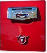 1957 Ford Custom 300 Series Ranchero Emblem Canvas Print