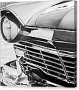1957 Ford Fairlane Grille -107bw Canvas Print