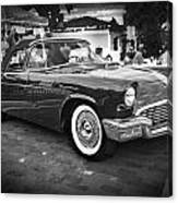 1957 Ford Thunderbird Convertible Bw Canvas Print