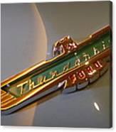 1957 Ford Thunderbird Emblem Canvas Print