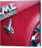 1957 Gmc V8 Pickup Truck Gmc Hydra-matic Emblem Canvas Print