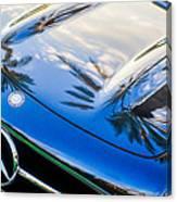 1957 Mercedes-benz 300sl Grille Emblem -0167c Canvas Print