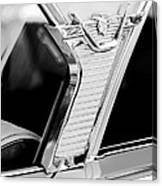 1957 Mercury Monterey Sedan -1030bw Canvas Print