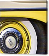 1957 Pontiac Starchief Wheel Cover Canvas Print