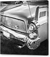 1957 Studebaker Golden Hawk Bw    Canvas Print
