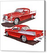 1957 Studebaker Silver Hawk Canvas Print