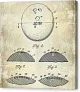 1958 Bowling Patent Drawing Canvas Print