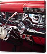 1958 Buick Special Dashboard Canvas Print