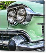 1958 Cadillac Headlights Canvas Print